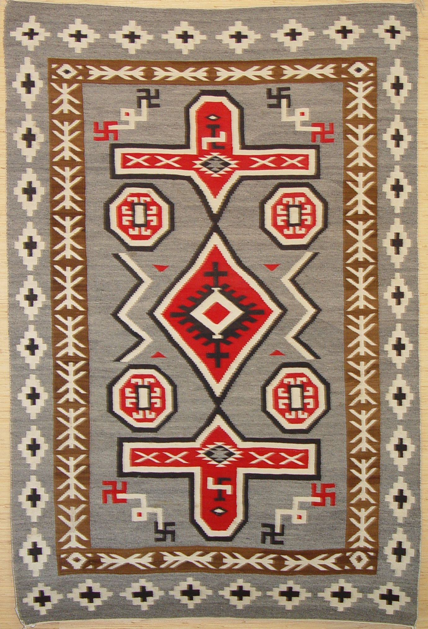 Navajo Rug And Yes Those Were Symbols Were Used Long Before Hitler