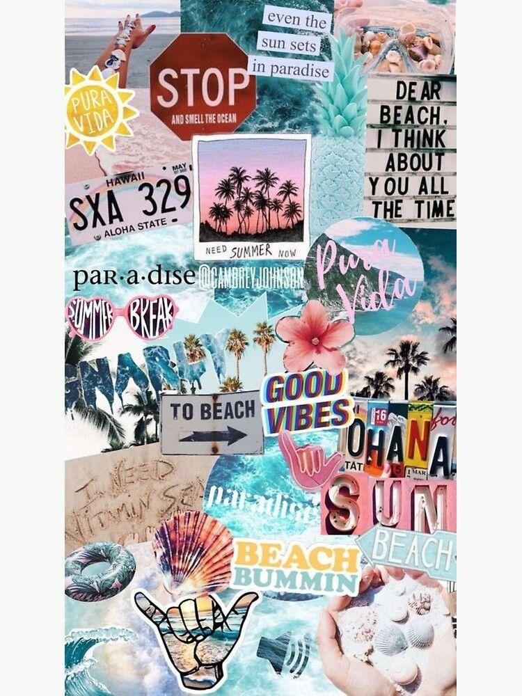 Summer Break Collage Poster