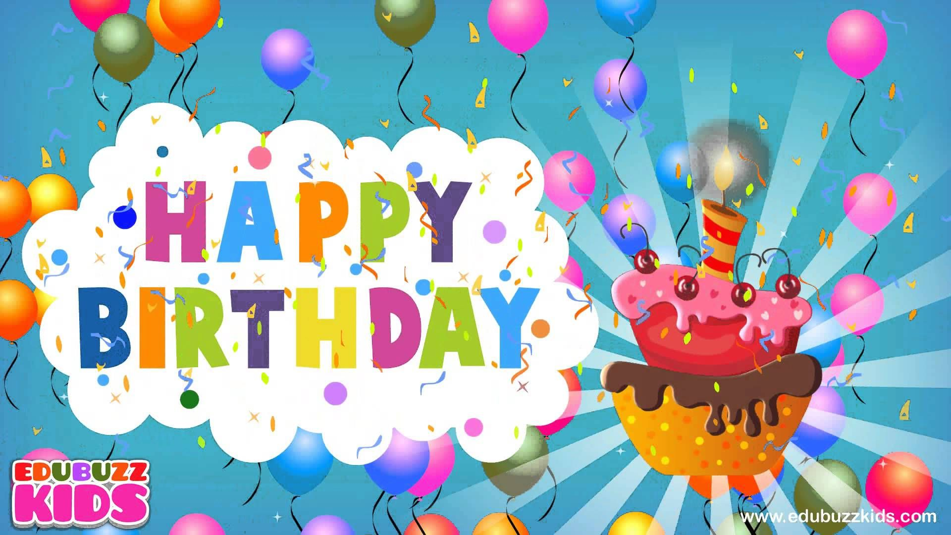 Happy Birthday Song Traditional Happy Birthday Song Birthday Songs Happy Birthday Balloons