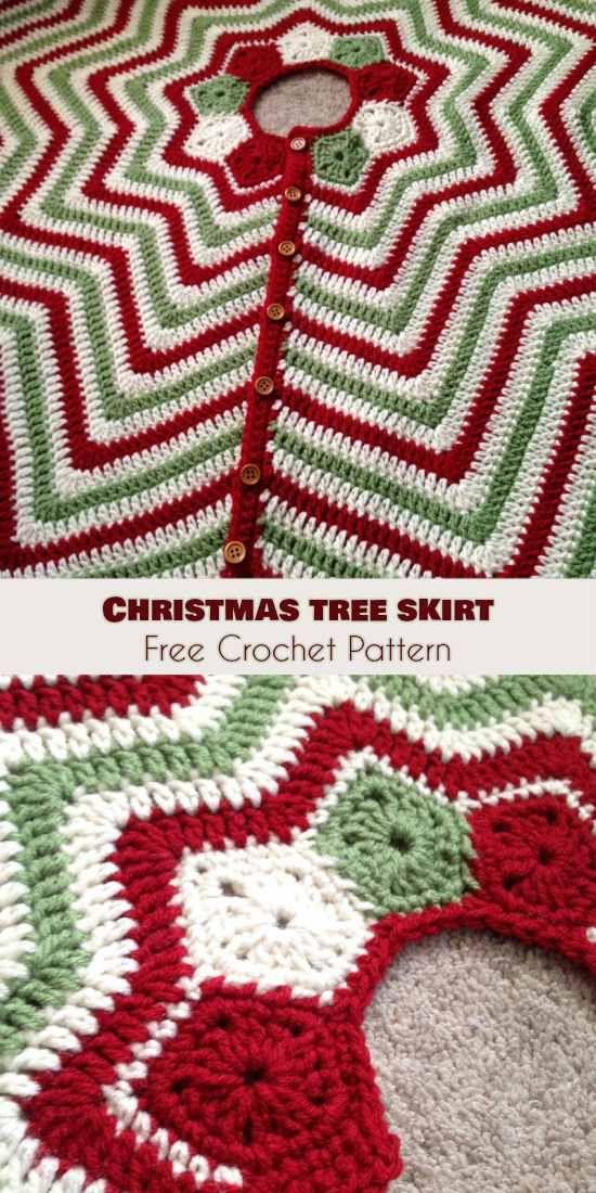 Christmas Tree Skirt [Free Crochet Pattern] | IDEENBUCH ...