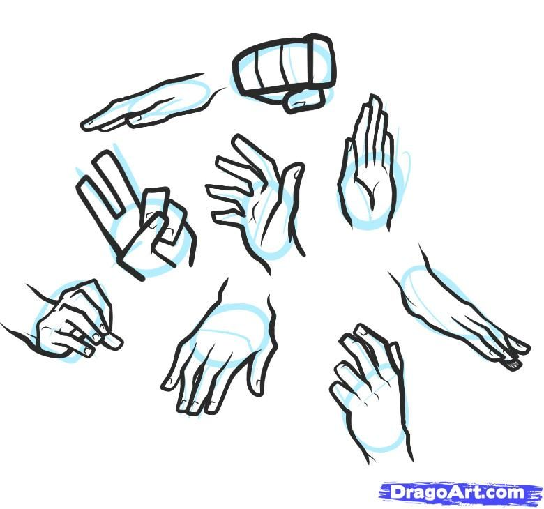 How To Draw Hands For Kids Step 4