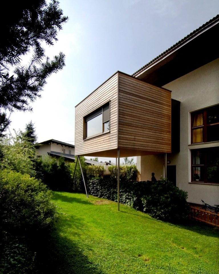 Une extension bois moderne a modern wooden extension for Extension bois