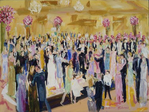 Hire An Artist To Paint A Scene From The Wedding During Cool