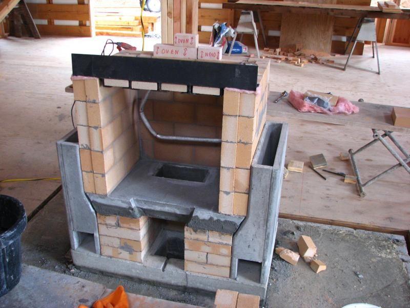 My Masonry Stove Heating Hot Water To 500 Gal Tank Under Basement