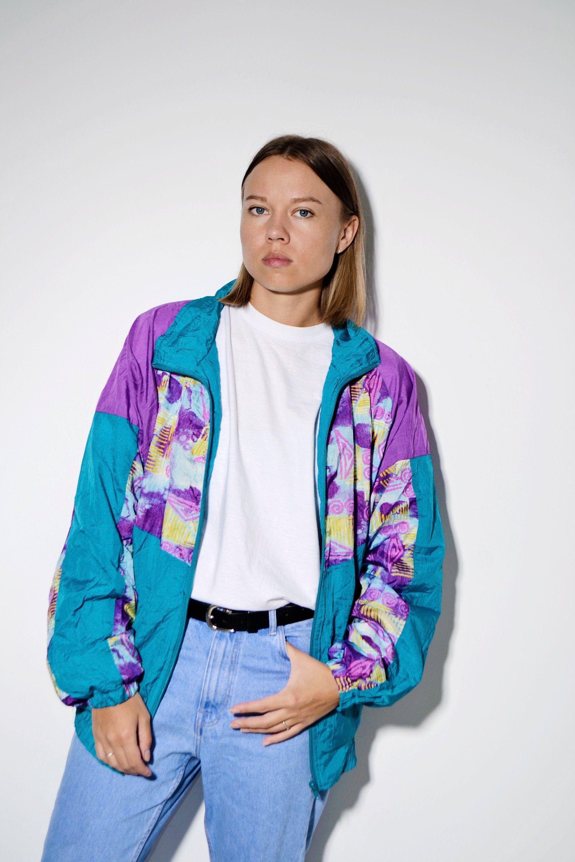 90 S 80 S Multi Vintage Jacket Windbreaker Vintage Clothes Shop Vintage Outfits Vintage Jacket