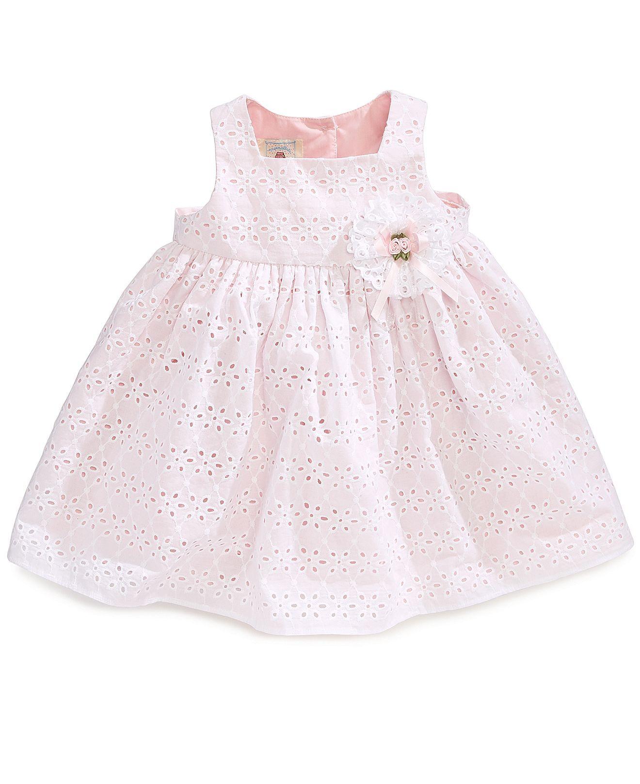 Marmellata Baby Girls Eyelet Floral Dress Kids Dresses