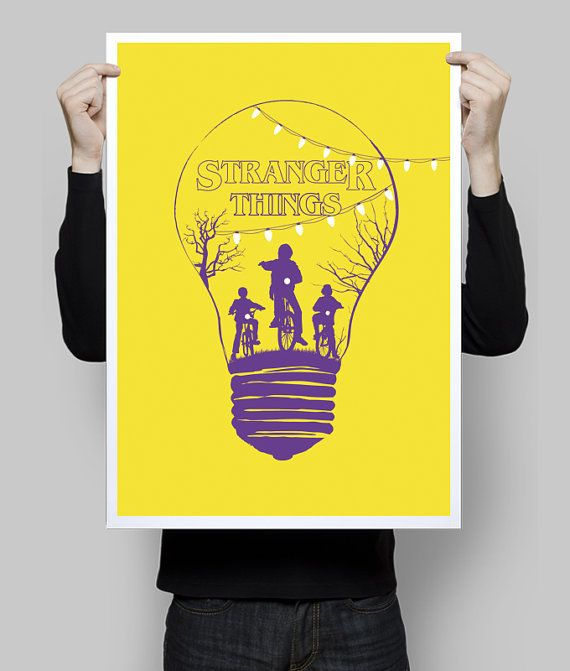 Alternative stranger things yellow minimalist poster tv serie ...