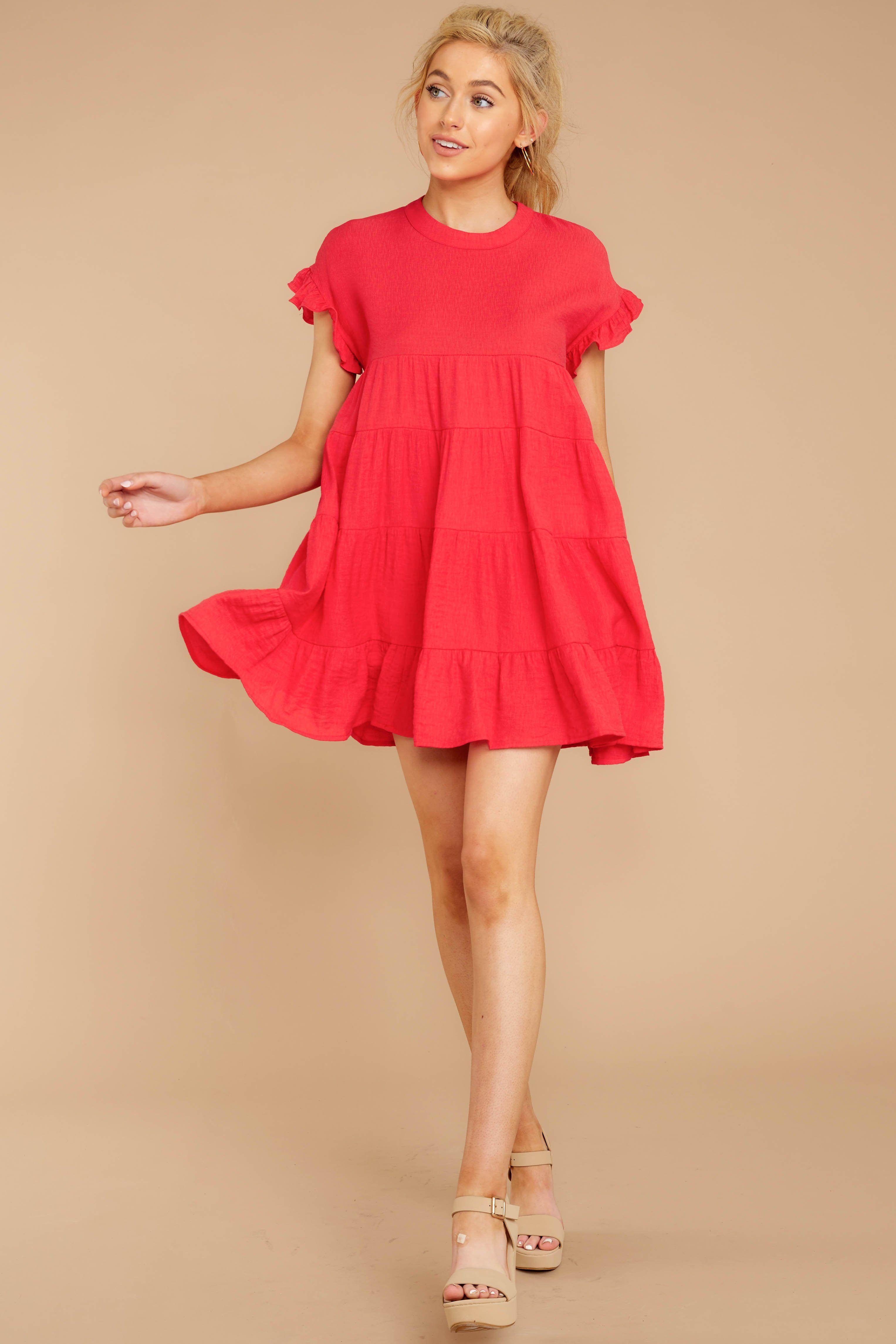 42++ Red babydoll dress info