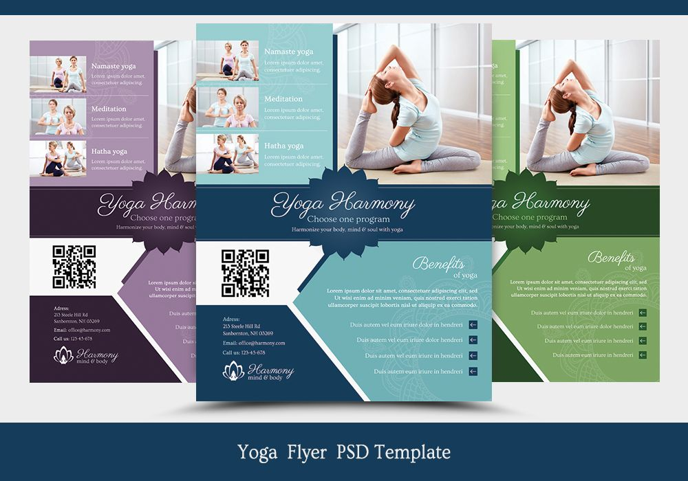 Harmony Yoga Flyer Template Flyer template, Psd templates and Template
