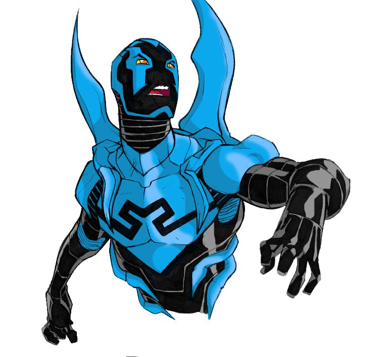 Blue Beetle - colour practice by Drawgasm-Designs.deviantart.com