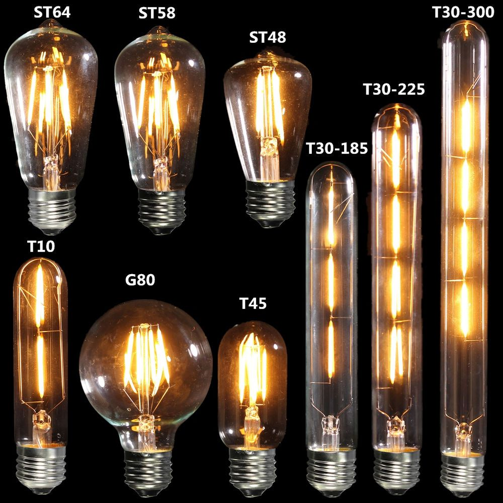 E27 Led Cob Ampoule Filament Vintage Retro Edison Lampe Bulb 2 3 4w 110 240v New Lampes D Epoque Lamp Vintage Retro