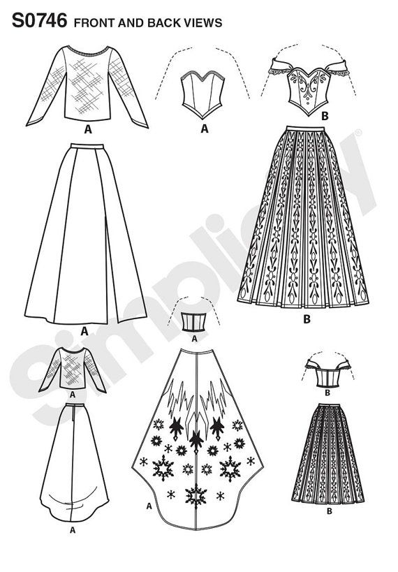 Simplicity Sewing Pattern 1215 Disney Frozen Costumes for Misses ...
