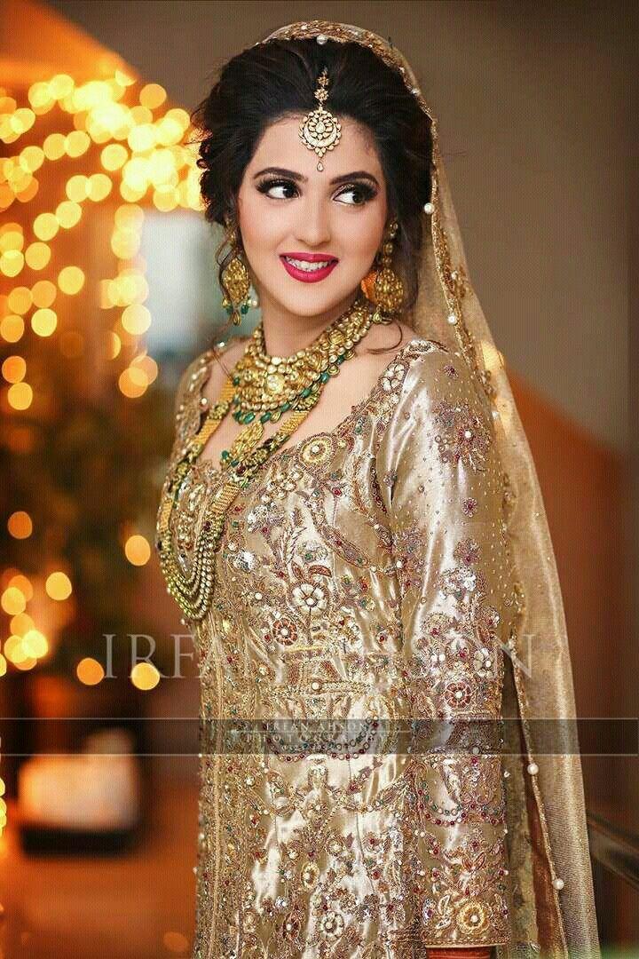 Pakistani bride Bridal outfits, Pakistani bridal makeup