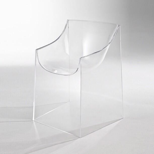 Transparent chair armchair  Sessel  fauteuil Design Eugeni