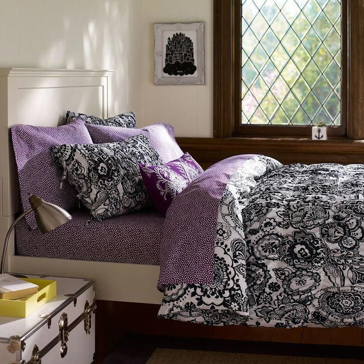 Black And White and purple Bedroom Ideas For Teens | this next one also comes in...  Black And White and purple Bedroom Ideas For Teens | this next one also comes in black and white #p #Bedroom #Black #Ideas #Purple #Teens #white