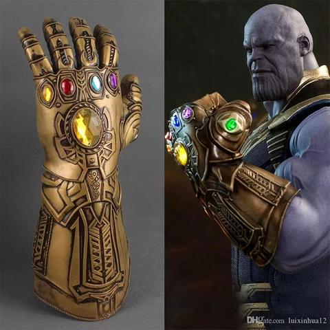 The Avengers Thanos Infinity Gauntlet Cosplay Gloves Prop Infinity War Mask Prop