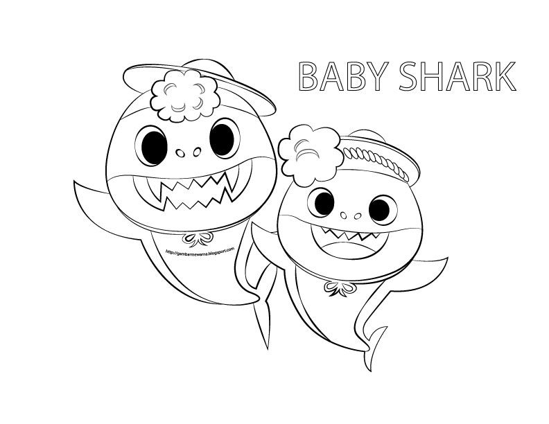 Baby Shark Coloring Pages - coloring.rocks! | Shark ...