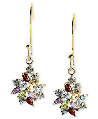 f91d48ed10457 Victoria Townsend 18k Gold over Sterling Silver Earrings, Multistone ...