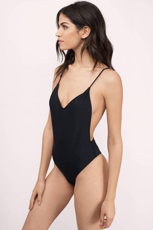 895aaba4dd51a Swimwear beach bikini beachwear monokini swim bathing suit basic solid  plain sexy cute orange coral halter simple vacation travel outfit outfits  tropical ...