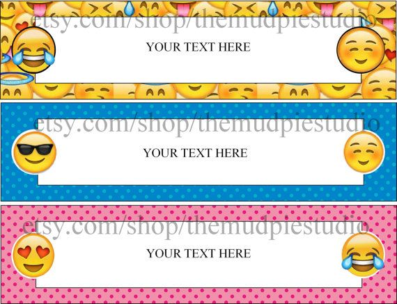 Editable Emoji Tags Nameplate Template Instant Digital