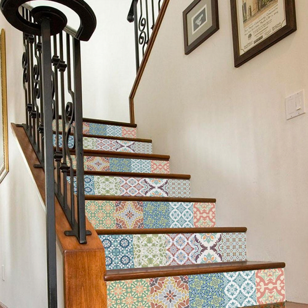 Ceramic tile backsplash decals for staircase decals wallart home