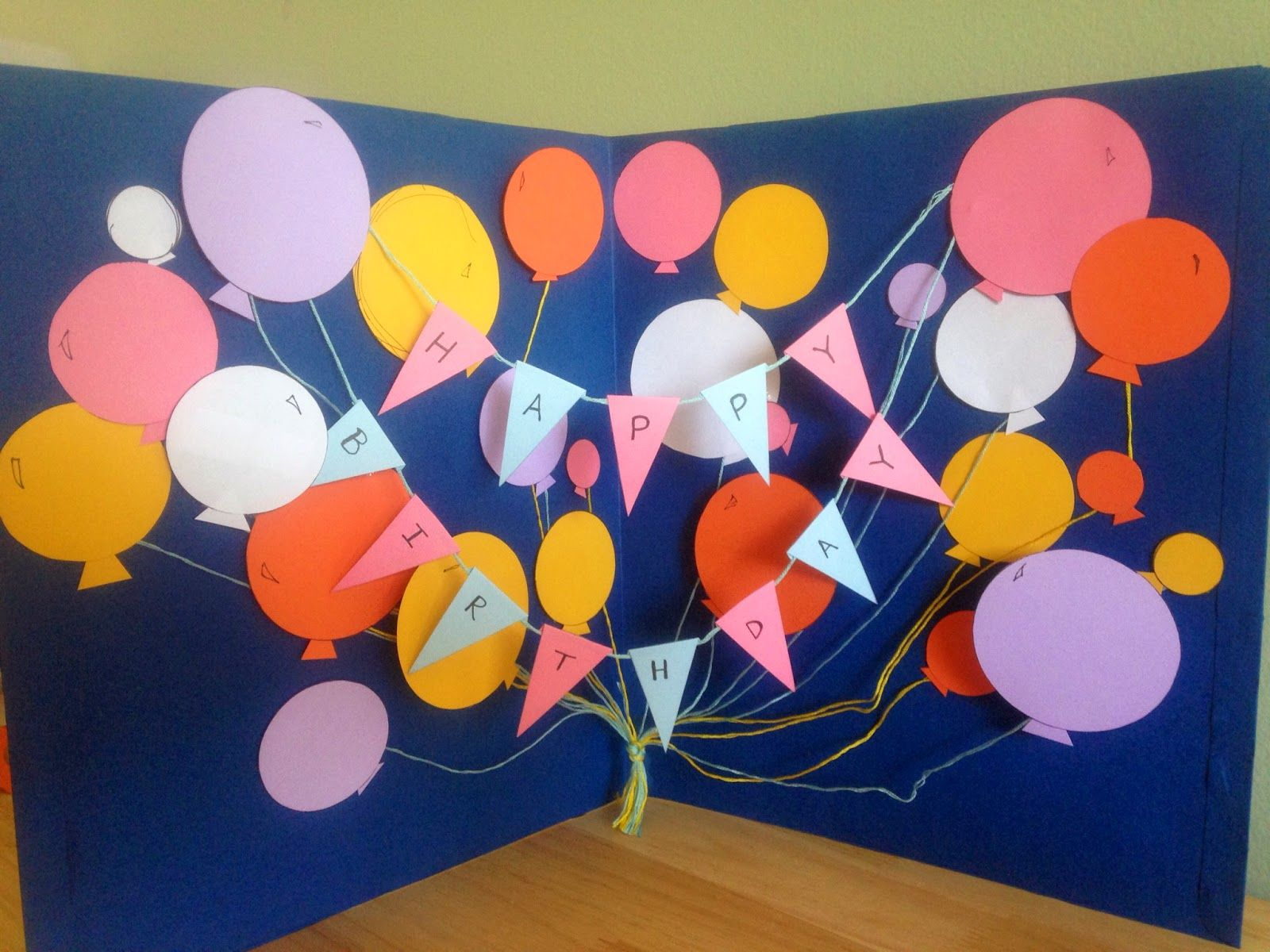 DIY Giant Happy Birthday Card (that's cheaper than