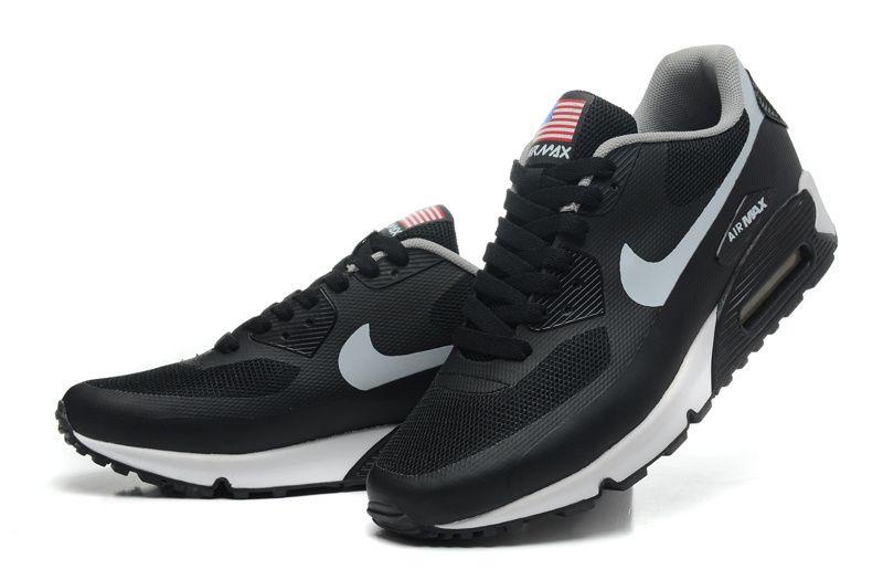 $109.00 Nike Air Max 90 Hyperfuse Mens Black White Grey