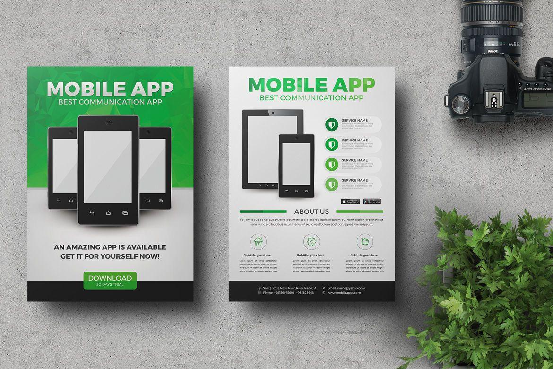 Mobile App Promotion Flyer Template PSD | graphic design inspiration ...