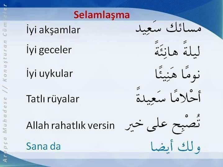 Hanaa Adli Kullanicinin Turkce Turkish Panosundaki Pin Arapca Dili Dil Dualar