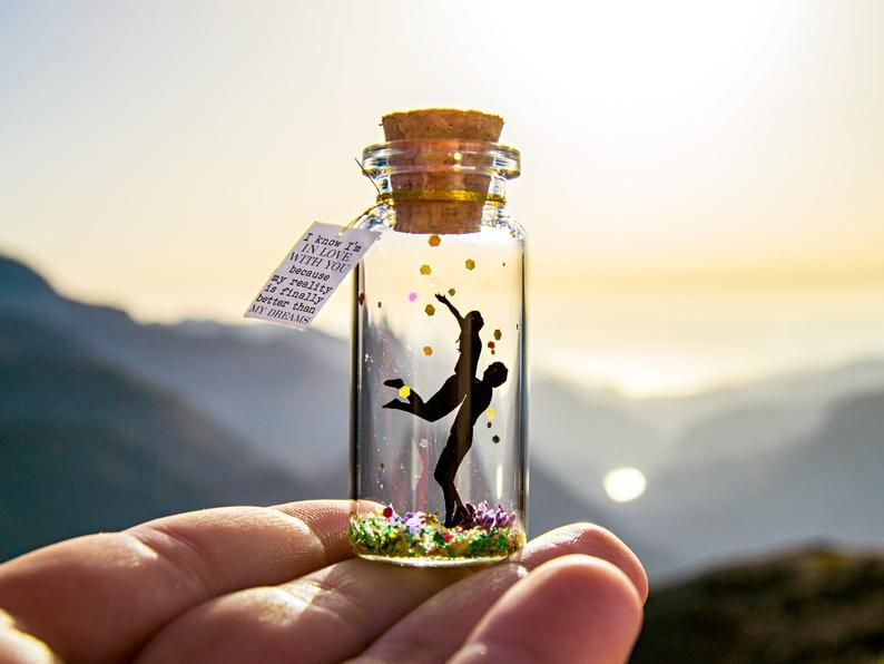 Valentine's Day Gift for girlfriend Always and forever I'm in love with you Personalized gift for boyfriend Message in a Bottle Unique Gifts