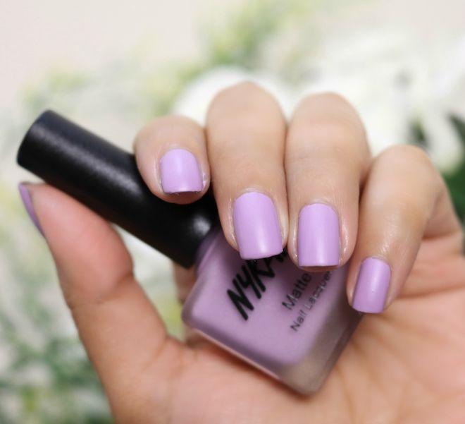Nykaa Matte Nail Paint Lavender Panacotta