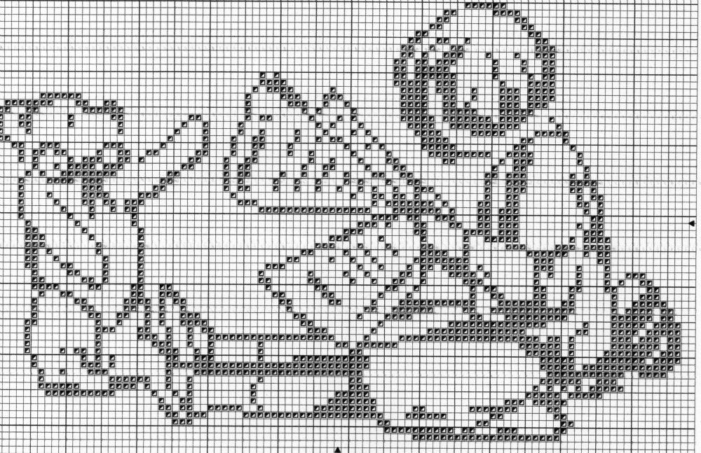 Points de croix *@* Monochrome | blackwork | Pinterest | Cross stitch, Stitch and Filet crochet