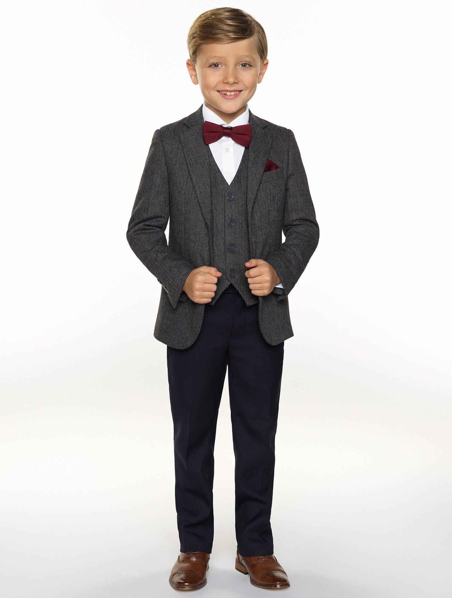 1acafd9f10c9 Boys grey tweed suit - Alfie in 2019
