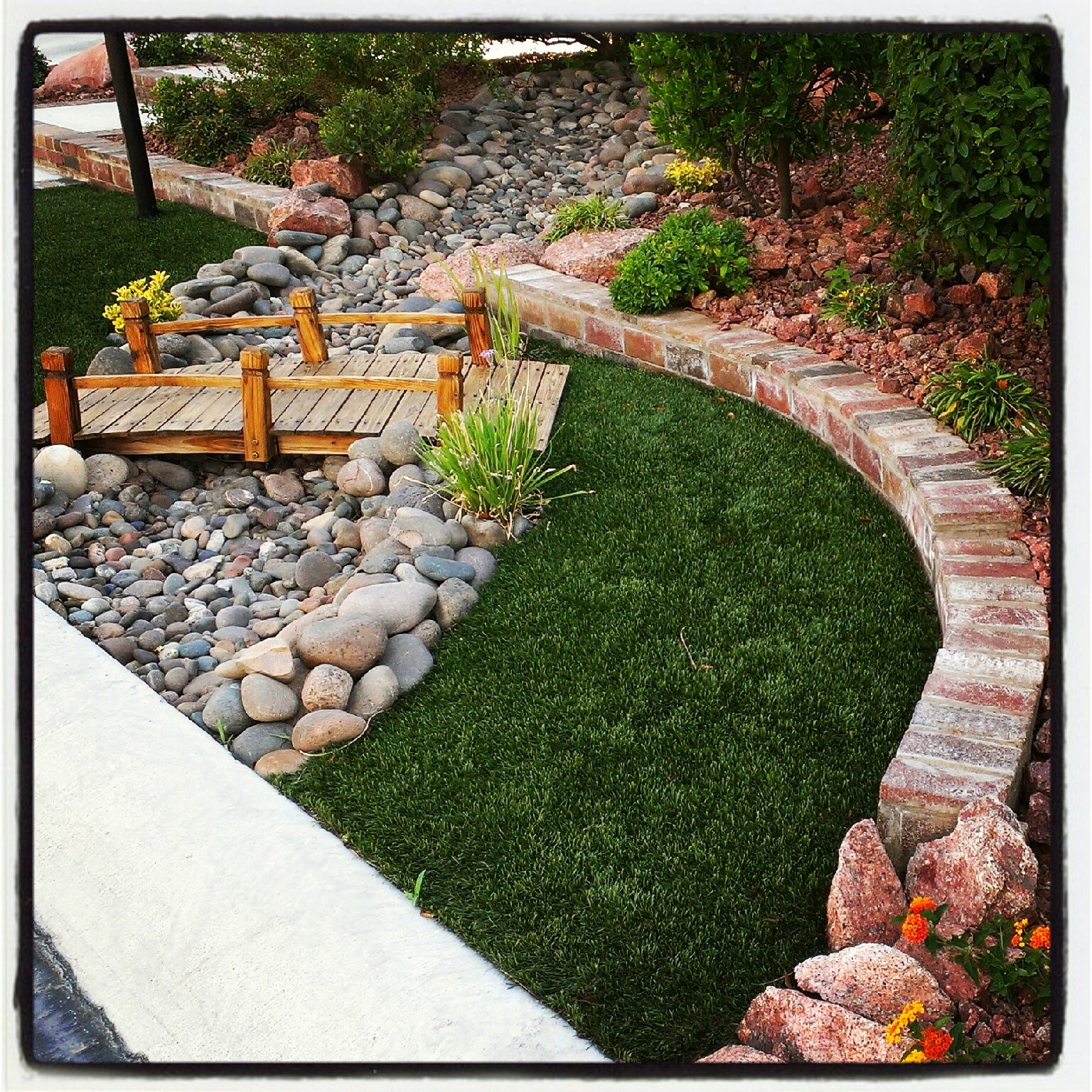 bridge and dry river bed ideas