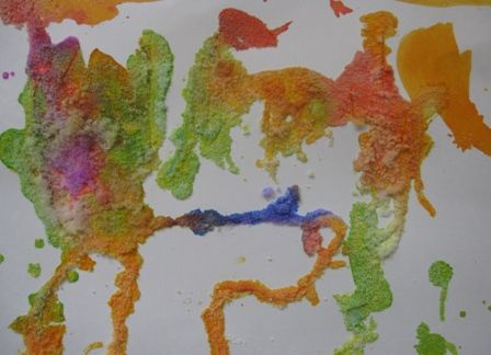 Glue Salt Watercolors A Fun Art Activity For Kids Of All