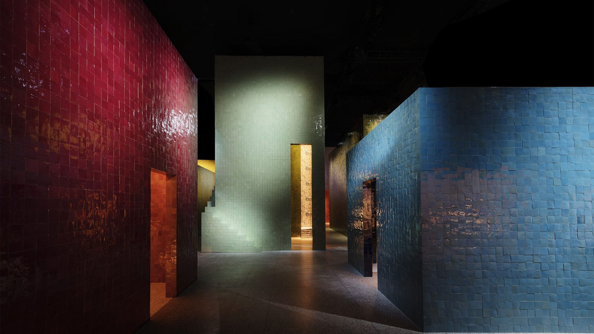 Amazing hermès presentation at the salone del mobile in milan with