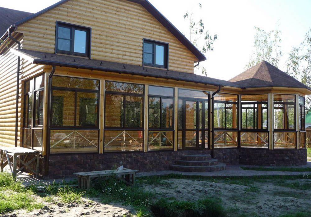 деревянные дома с застекленной террасой фото: 17 тыс ...