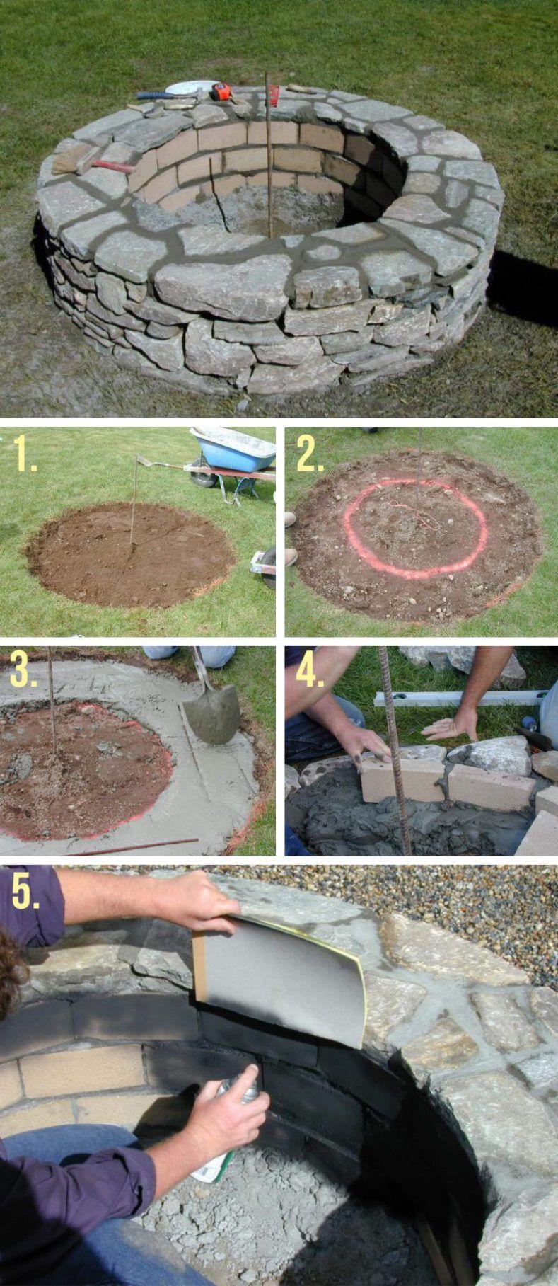 20+ Attractive DIY Firepit Ideas Fire pit backyard, Fire