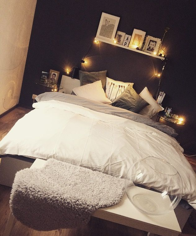 bedroom #schlafzimmer #bett #fußbank #deko #ikea | Schlafzimmer ...