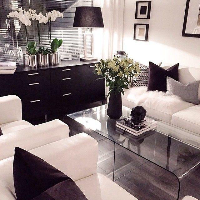 48 Black And White Living Room Ideas Mustavalkoinen Sisustus