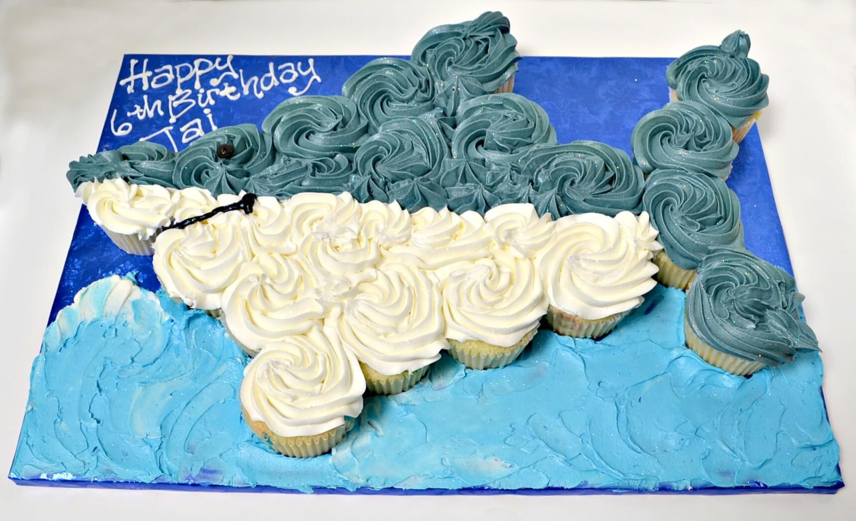 Shark Cupcake Cake Birthday Cakes Cupcakes 4th Ideas