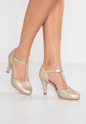 Recogiendo hojas Asociar dividendo  GRACIA WIDE FIT - Escarpins à bout ouvert - champagne glitter @ ZALANDO.FR  🛒 in 2020 | Ladies shoes designer, Orange shoes, Heels
