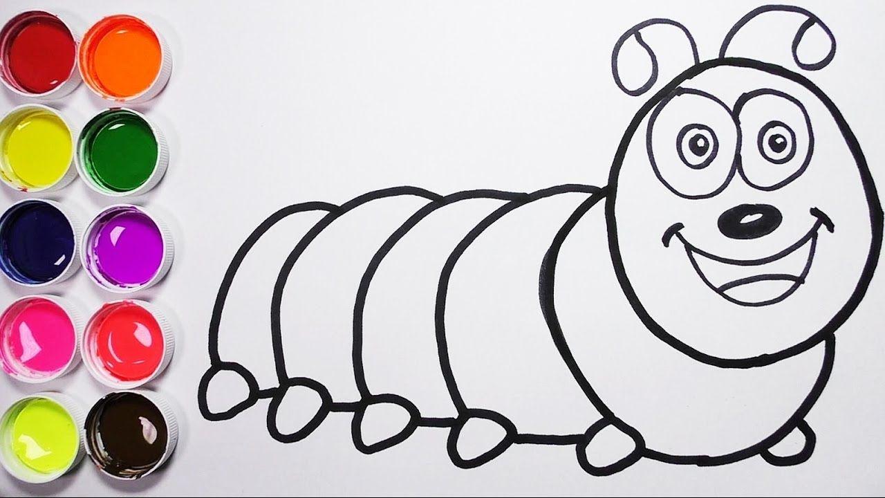 Como Dibujar Una Larva de Arco Iris Dibujos Para Niños Learn Colors ...