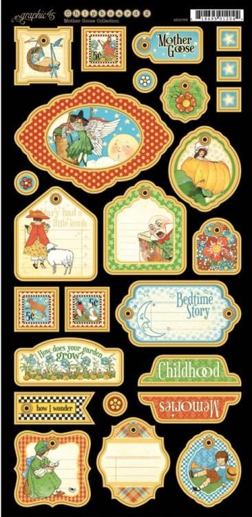 Graphic 45 Mother Goose CHIPBOARD 2