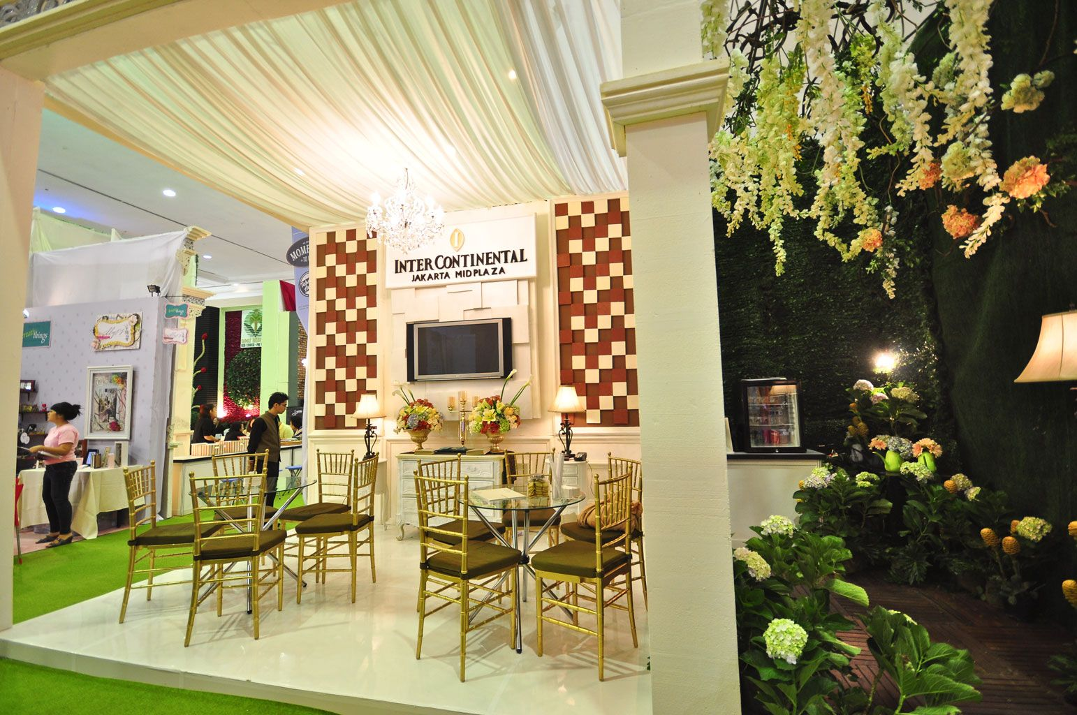 Our booth decoration in wedding exhibition at jakarta convention our booth decoration in wedding exhibition at jakarta convention center junglespirit