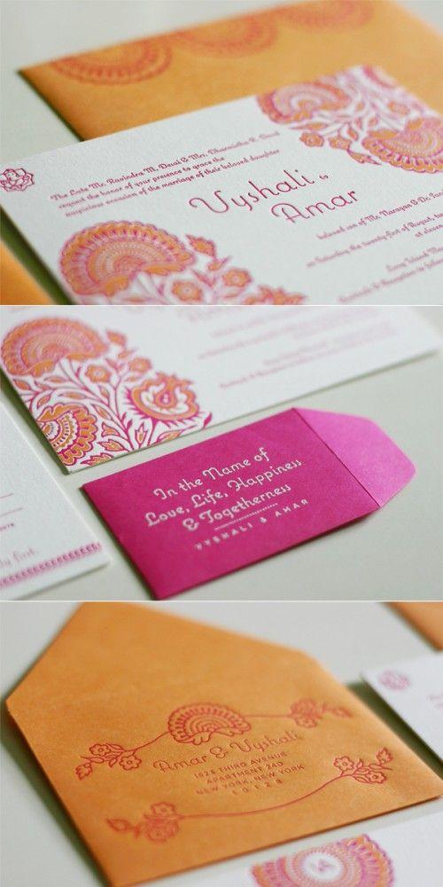 Traditional Hindu Wedding Invitations Hindu weddings, Traditional - formal handmade invitation cards
