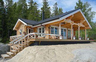 Attraktives blockhaus rundholzhaus als alterssitz for Blockhaus modern einrichten