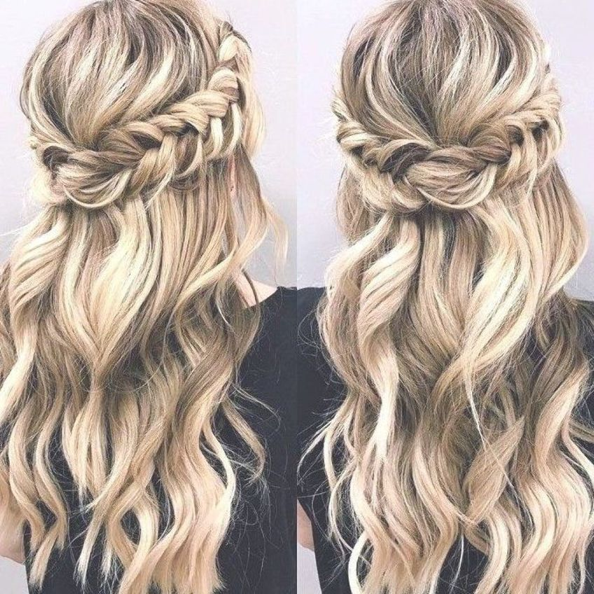 50 Long Hair Luxury Hairstyle For The Maid Of Honor Hot Wedding Hairstyles Sideswept Br Braided Half Up Half Down Hair Long Hair Styles Hair Styles