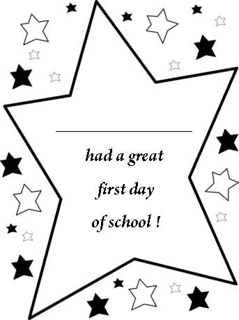 free printable back to school certificates, stars first