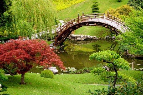 Traditional Amazing Japanese Garden Designs Ideas Bridge River